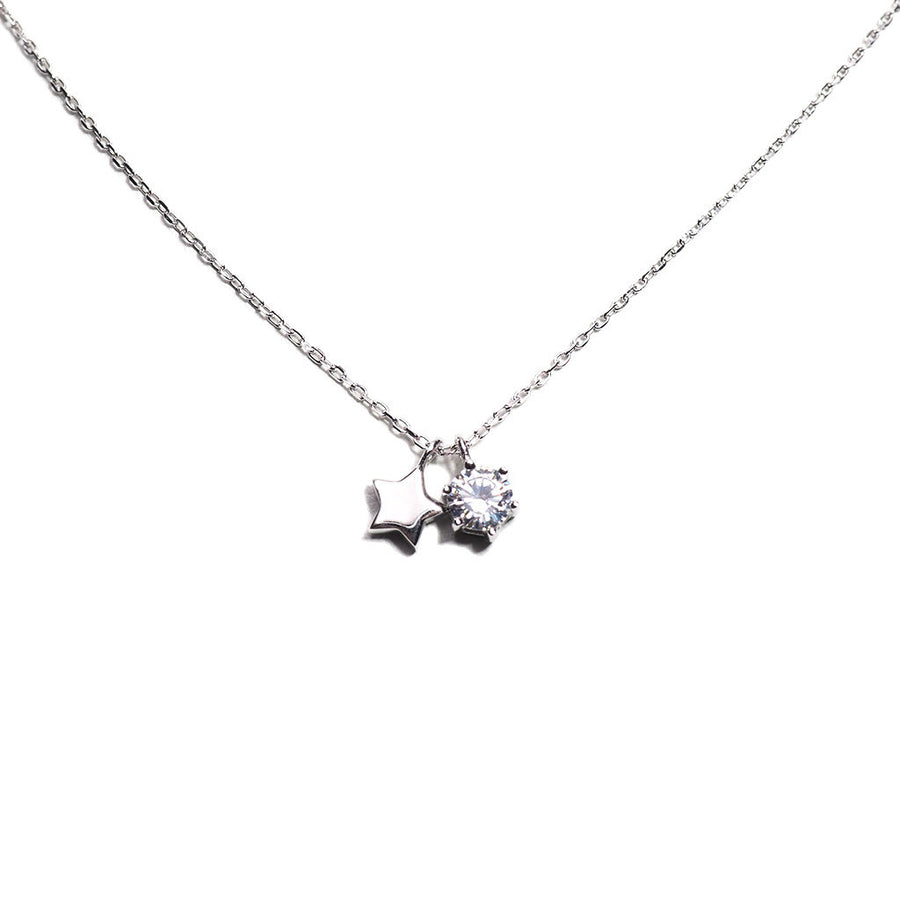 STERLING SILVER TWIN STARS NECKLACE