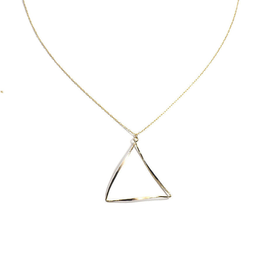 OPEN TRIANGLE LONG NECKLACE