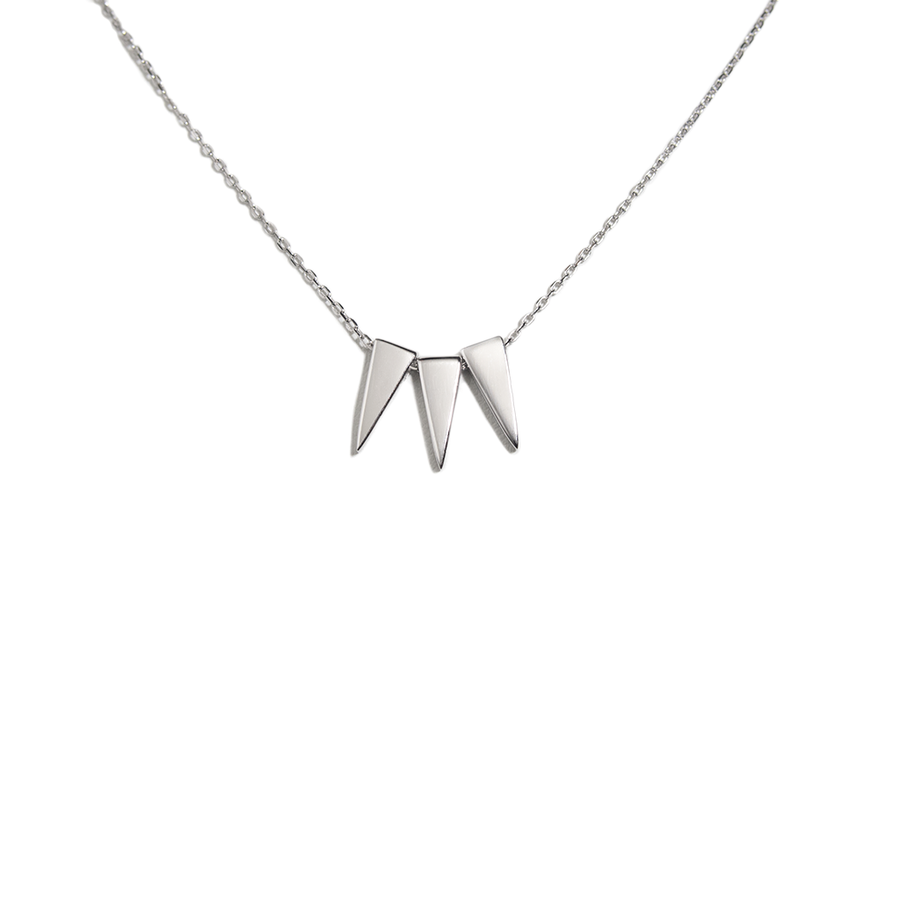 STERLING SILVER SPIKY CHAIN NECKLACE