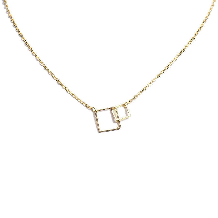 LINKED SQUARES CHAIN NECKLACE