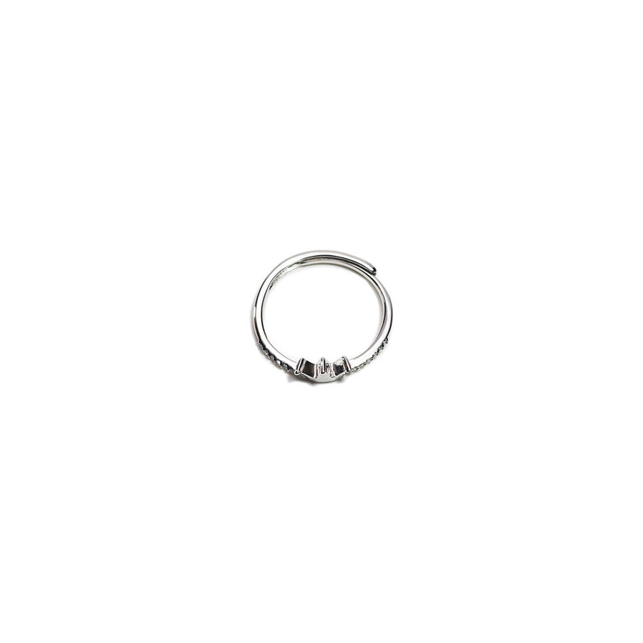 STERLING SILVER MINI CROWN ADJUSTABLE RING-Ring-Meguro