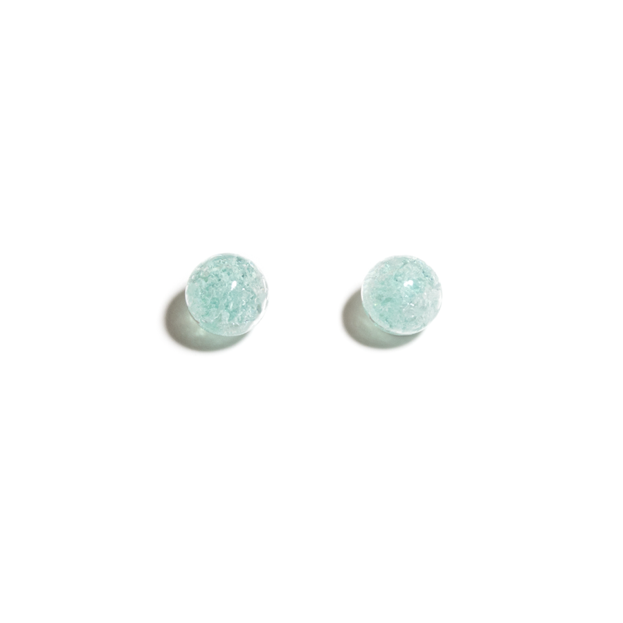 BLUE LAKE ICE GLASS EARRINGS