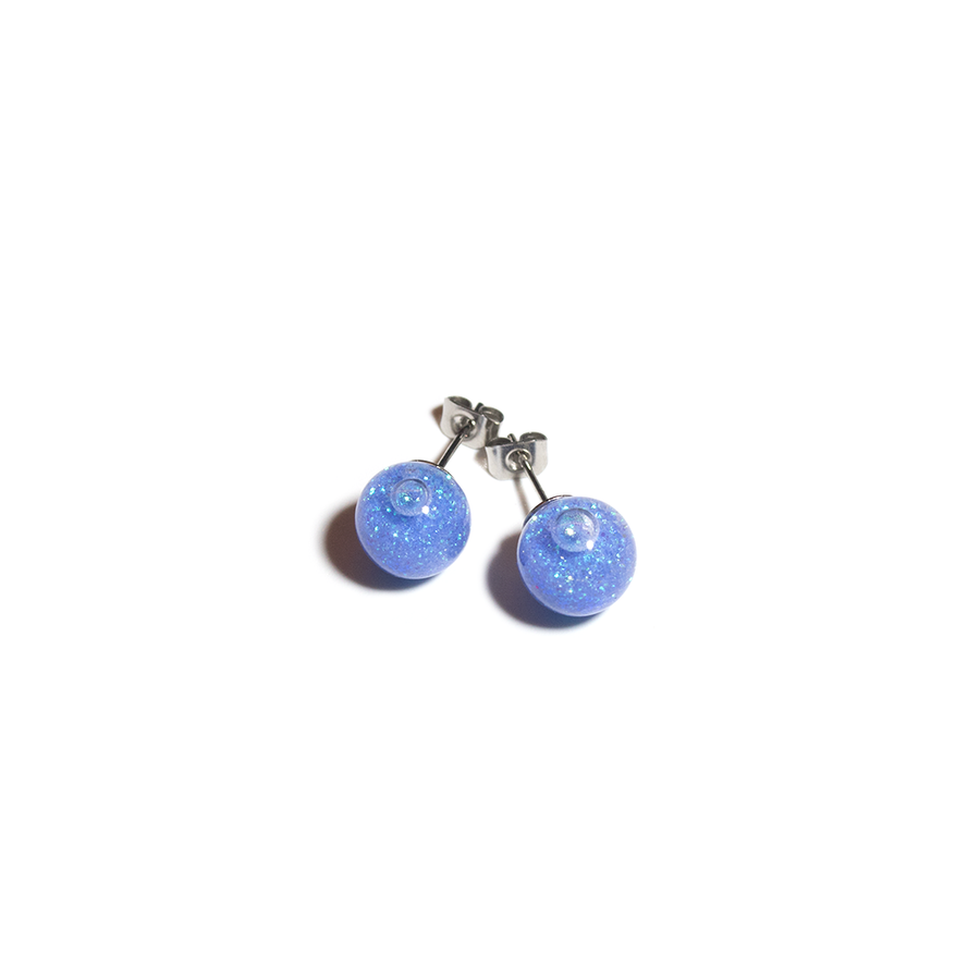 DRIFTING SANDS GLASS EARRINGS BLUE