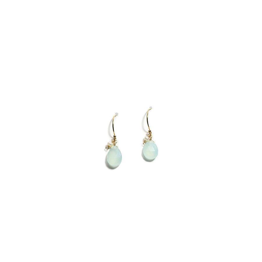 K14 GOLD FILLED CHRYSOPRASE HOOK EARRINGS