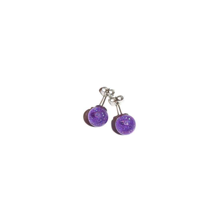 DRIFTING SANDS GLASS EARRINGS PURPLE