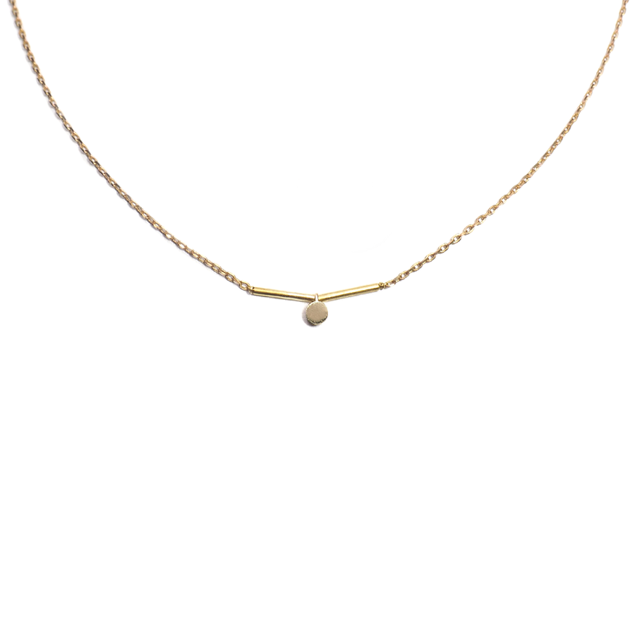 FULL STOP BRASS NECKLACE