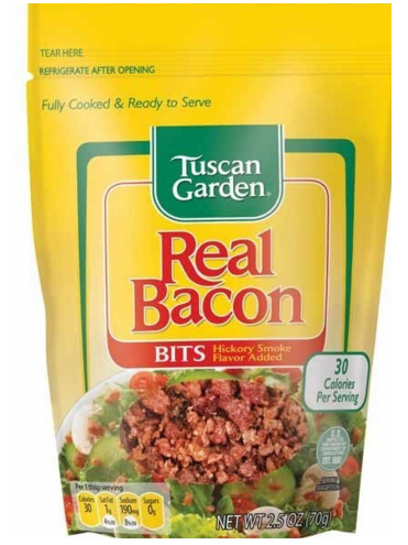 TUSCAN GARDENS REAL BACON BITS, 2.5oz
