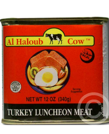 AL HALOUB COW TURKEY LUNCHEON MEAT LOAF 12oz