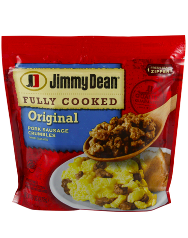 JIMMY DEAN FULLY COOKED ORIGINAL PORK SAUSAGE CRUMBLES, 9.6 OZ |STATE SHOPS NY