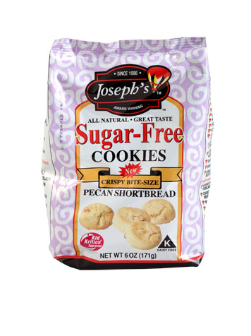 JOSEPH'S SUGAR-FREE PECAN SHORTBREAD COOKIES |STATE SHOPS NY