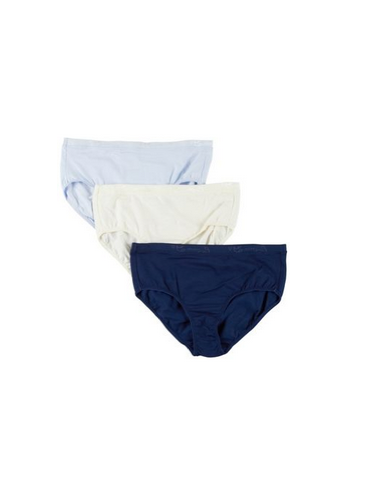 LADIES 100% COTTON COMFORT FIT 3PK