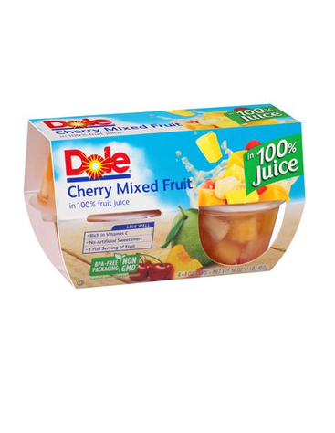 DOLE CHERRY MIXED FRUIT IN LIGHT SYRUP 4 PK |STATE SHOPS NY - State Shops NY