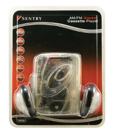 Sentry Transparent AM/FM Cassette Player $29.99 - State Shops NY