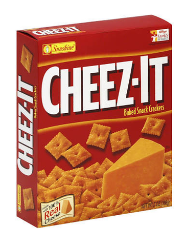 CHEEZ-IT BAKED SNACK CRACKERS 7oz