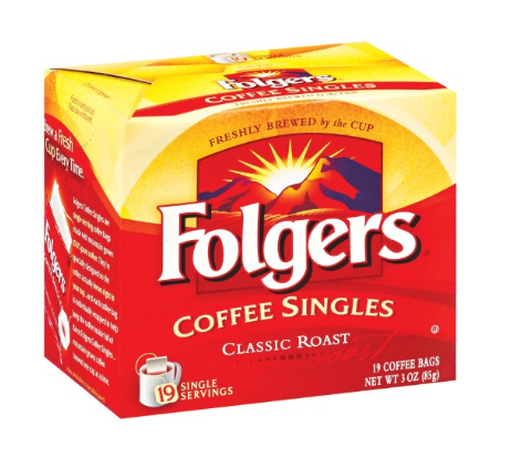 FOLGERS COFFEE SINGLES - State Shops NY