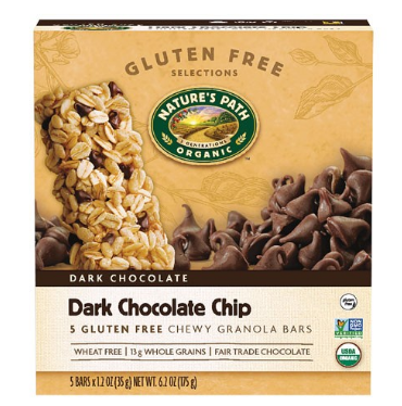 Nature's Path Chewy Granola Bar, Dark Chocolate Chip 5 Ct