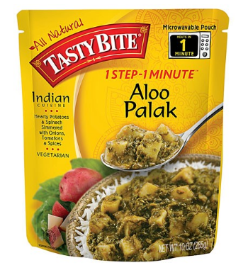 Tasty Bite Aloo Palak Heat & Eat Entree, 10 oz Pouches