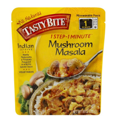 Tasty Bite Mushroom Masala Heat & Eat Entree, 10 oz Pouches