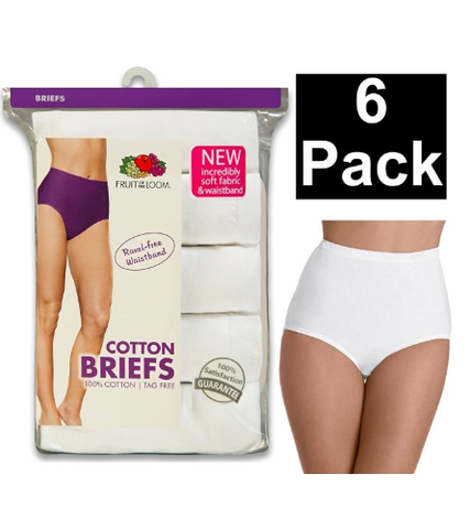 Fruit of the Loom Plus Size Cotton Briefs 6pk - State Shops NY
