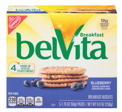 Belvita Breakfast Biscuits, Blueberry, 5 Ct - State Shops NY