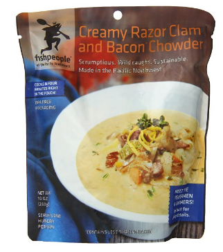 Fishpeople Creamy Razor Clam and Bacon Chowder, 10oz