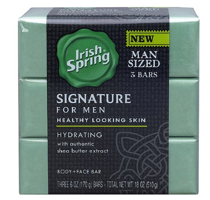 Irish Spring Signature Bar Soap, 6 Oz, 3 Ct