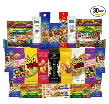 Healthy Nuts & Bars Variety Snacks Pack 30 ct