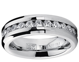6MM Ladies Eternity CZ Wedding Band