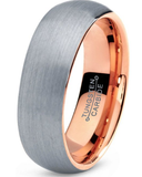 Tungsten 7mm Band 18K Rose Gold Plated - State Shops NY