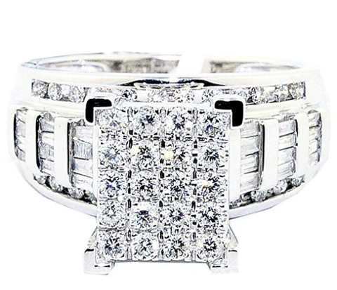 1cttw Diamond Wedding Ring 3 in 1 Style Engagement & Bands White or Yellow Gold - State Shops NY