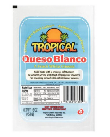 Tropical Queso Blanco-Fresh White Cheese, 16 oz