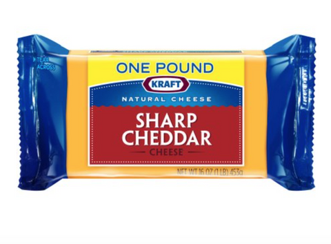 Kraft Natural Cheese Sharp Cheddar Cheese Chunk, 16 oz
