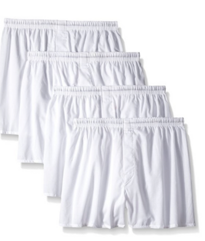Hanes Mens White Boxers 2pk - State Shops NY