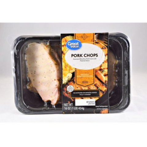 Boneless Pork Chops-Fully Cooked 1lb - State Shops NY
