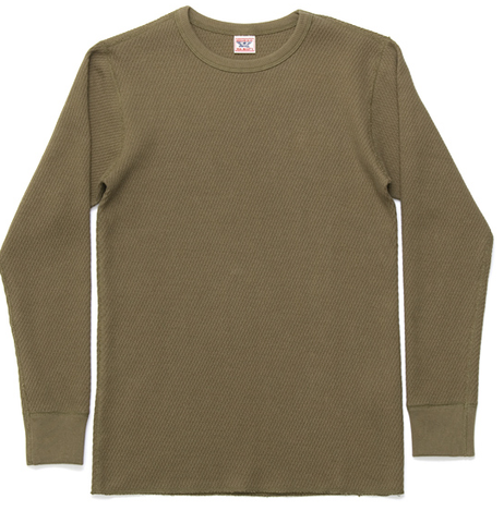 MEN'S WAFFLE COTTON THERMAL T-SHIRT | State Shops NY - State Shops NY