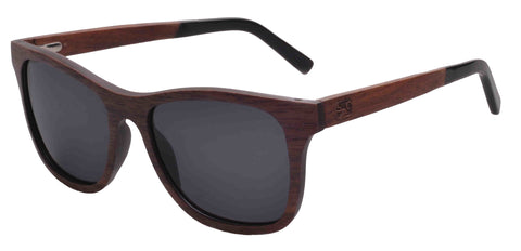 Sunken City Leland Hand Made Polarized Wood Sunglasses - (left angle) Image