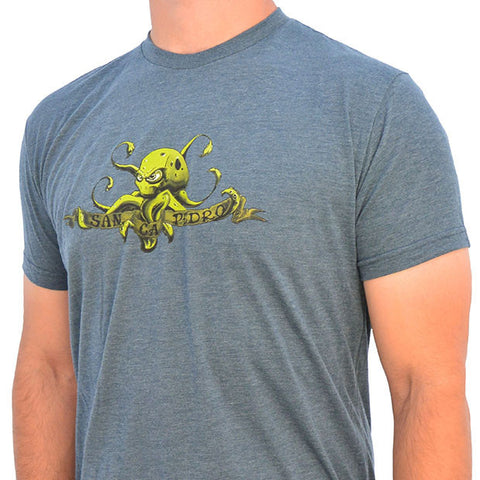 Sunken City Octopus Tee - Dark Gray