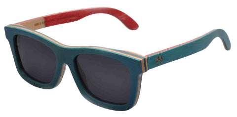 Sunken City Pacific Hand Made Polarized Skateboard Wood Sunglasses - (left angle) Image