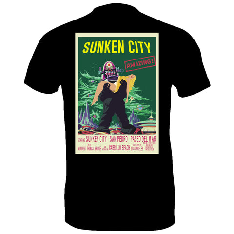 Sunken City Robot Tee Black (back) Image
