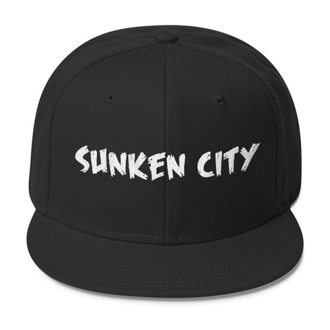 Sunken City San Pedro Wool Blend Snapback (Black) Front