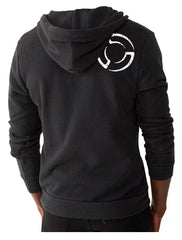 System Blue Black Full Zip Hoodie
