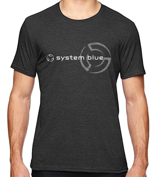 System Blue Grey T- shirt