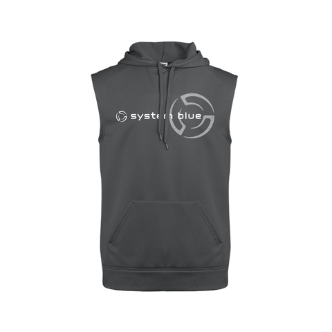 System Blue Sleeveless Hoodie
