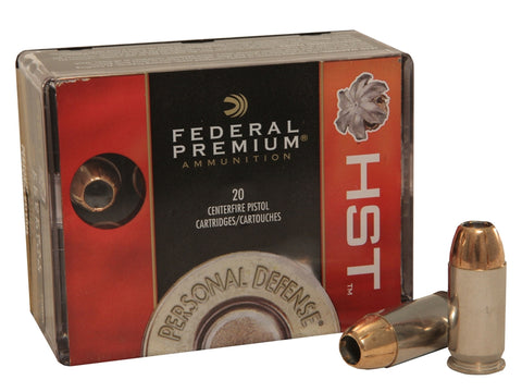 FEDERAL PREMIUM PERSONAL DEFENSE 9MM 147GR HST JHP - 20RD