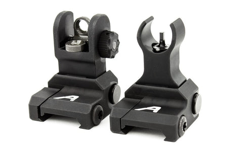 AERO PRECISION AR-15 FLIP UP SIGHT SET - ANDODIZED BLACK