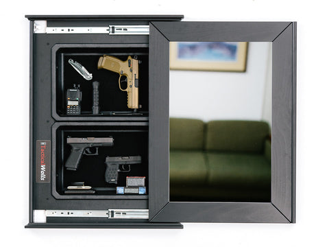 TACTICAL WALLS 1420M BUNDLE PISTOL SHELF WITH WHITE BOARD - BLACK