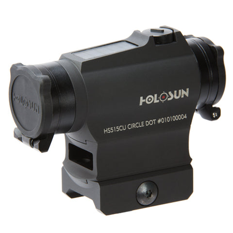 HOLOSUN HS515CU CIRCLE DOT AND SOLAR SIGHT WITH BLACK HOUSING
