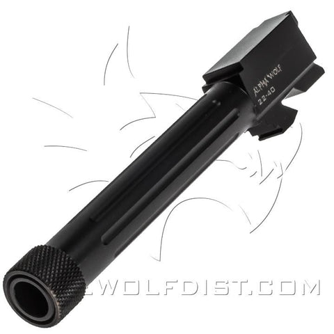 LONE WOLF ALPHA WOLF BARREL FOR M/22 40 S & W THREADED 9/16X24