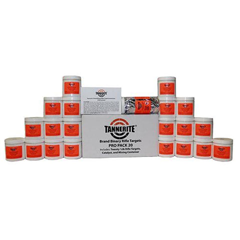 TANNERITE PRO PACK 20 - SINGLE CASE OF TWENTY 1/2 POUND TARGETS