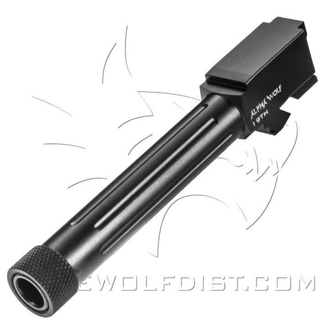 LONE WOLF ALPHA WOLF BARREL FOR M/19 9MM THREADED 1/2X28